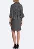 Plus Size Stripe Flounced Shirt Dress alternate view