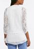 Plus Size Lace Ruched Sleeve Blazer alternate view