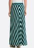 Plus Size Mitered Stripe Skirt alternate view