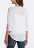 Plus Size Cutout Sleeve Crepe Top alternate view