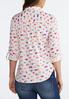 Plus Size Scattered Heart Print Shirt alternate view