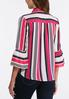 Bright Striped Bell Sleeve Top alternate view