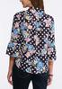 Navy Dotted Floral Top alternate view