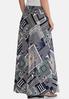 Plus Size Mixed Print Maxi Skirt alternate view