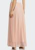 Plus Size Solid Mesh Maxi Skirt alternate view