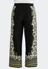 Plus Size Gold Floral Palazzo Pants alternate view