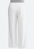Plus Size White Linen Trouser Pants alternate view