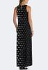 Plus Size Modern Polka Dot Maxi Dress alternate view