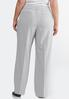 Plus Size Gray Heather Trouser Pants alternate view