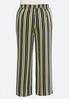 Plus Size Black And Yellow Stripe Pants alternate view