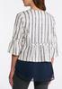 Plus Size Stripe Linen Blazer alternate view