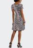Plus Seamed Coral Paisley Dress alternate view