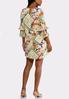 Plus Size Patchwork Floral Dress alternate view
