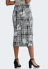 Floral Plaid Pencil Skirt alternate view