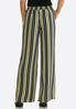 Petite Black And Yellow Stripe Pants alternate view