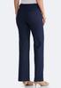 Navy Linen Trouser Pants alternate view