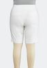 Plus Size Neutral Bengaline Bermuda Shorts alternate view