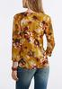 Plus Size Triple Ring Golden Floral Top alternate view