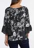 Plus Size Blooms And Paisley Poet Top alternate view