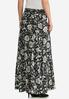 Plus Size Seamed Floral Maxi Skirt alternate view