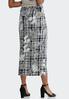 Plus Size Floral Plaid Pencil Skirt alternate view