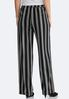 Striped Tie Front Palazzo Pants alternate view