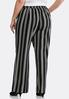 Plus Size Striped Tie Front Palazzo Pants alternate view