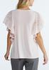 Embroidered Flutter Sleeve Top alternate view
