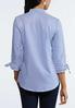 Stripe Ruffled Sleeve Shirt alternate view