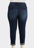 Plus Size Dark Skinny Ankle Jeans alternate view
