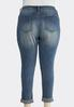 Plus Size Skinny Ankle Jeans alternate view