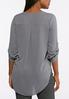 Plus Size Gray High- Low Top alternate view
