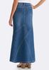 Plus Size Denim Multi Seam Maxi Skirt alternate view