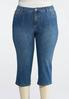 Plus Size Cropped Embellished Skinny Jeans alternate view