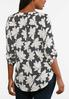 Plus Size Dotted Floral Tunic alternate view