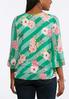 Plus Size Embellished Stripe Floral Top alternate view