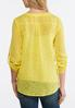 Plus Size Gold Jacquard Pullover Top alternate view