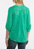 Plus Size Green Jacquard Pullover Top alternate view
