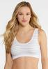Metallic Stripe Sports Bra alternate view