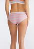 Plus Size Pink And Gray Striped Set alternate view