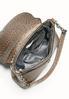 Faux Ostrich Foldover Shoulder Handbag alternate view