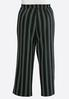 Plus Size Stripe Tie Front Palazzo Pants alternate view