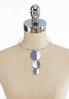 Hammered Shell Pendant Wire Necklace alternate view