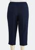 Plus Size Cropped Trouser Pants alternate view