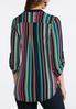 Plus Size Bright Stripe Pullover Top alternate view