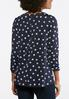 Navy Criss Cross Puff Print Top alternate view