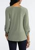 Plus Size Knotted Hem Top alternate view