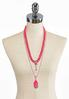 Pink Multi Layered Necklace alternate view