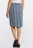 Plus Size Stripe Denim Skirt alternate view
