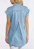 Plus Size Button Down Chambray Shirt alternate view